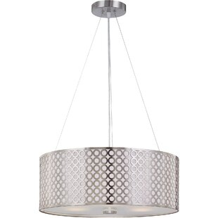 Brayden Studio Hoang 3-Light Drum Pendant