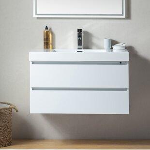 Valero 36 Wall-Mounted Single Bathroom Vanity Set By Orren Ellis