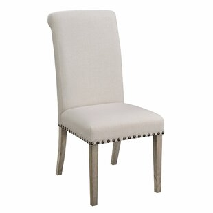 Restormel Rolled Back Parson Upholstered Dining Chair (Set of 2)