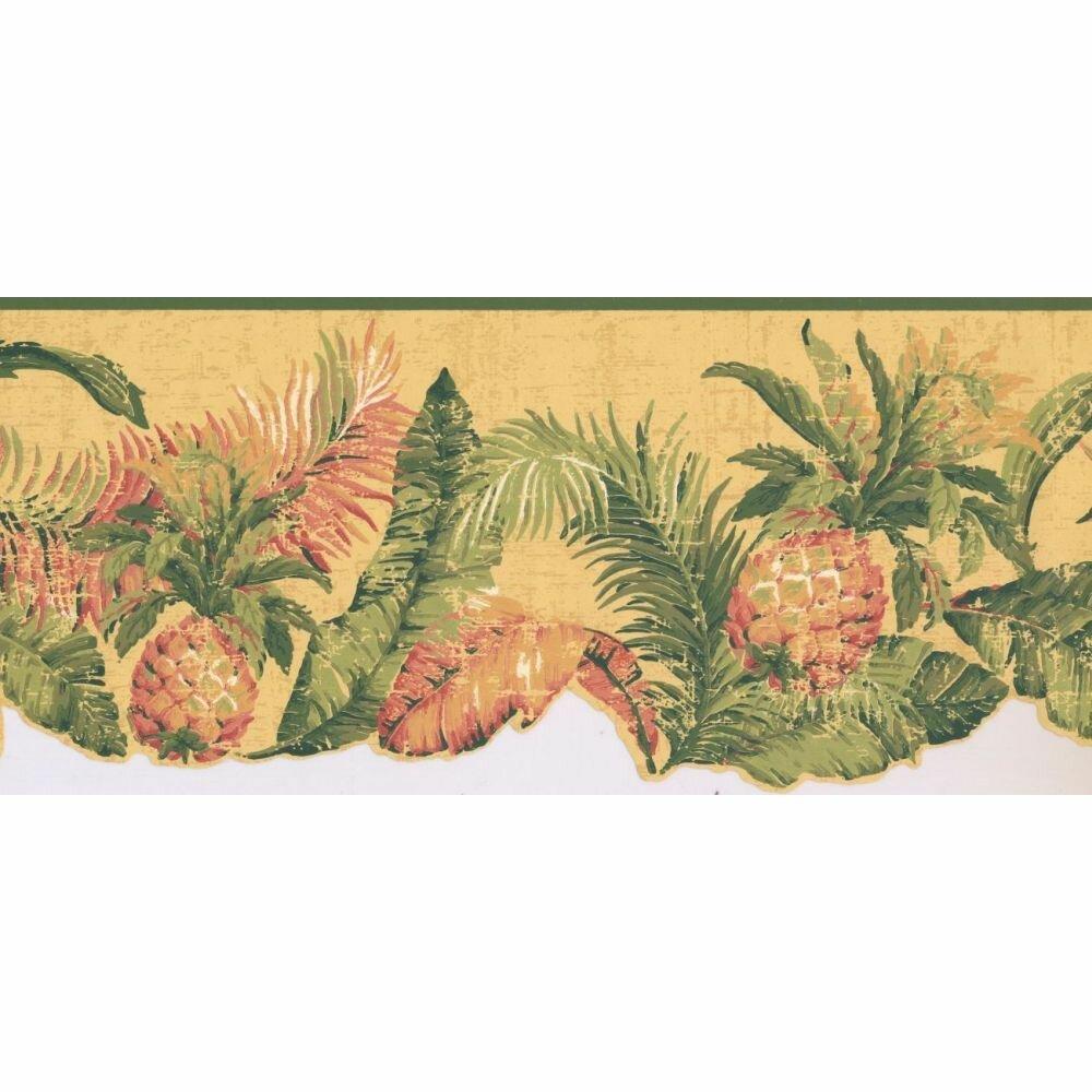 hay pineapple fruits 15 l x 9 w wallpaper border