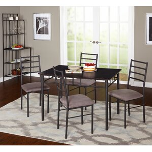 Noemi 5 Piece Dining Set with Baker's Rack ..
