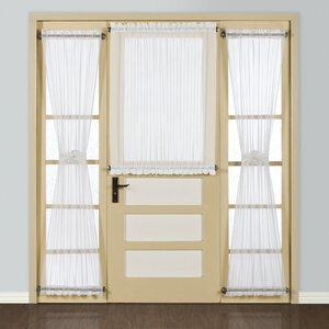 Giselle Half Solid Sheer Rod Pocket Single Curtain Panel