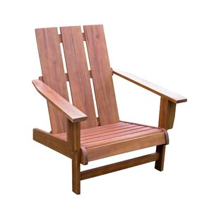 Beachcrest Home Pine Hills Solid Wood Adirondack Chair