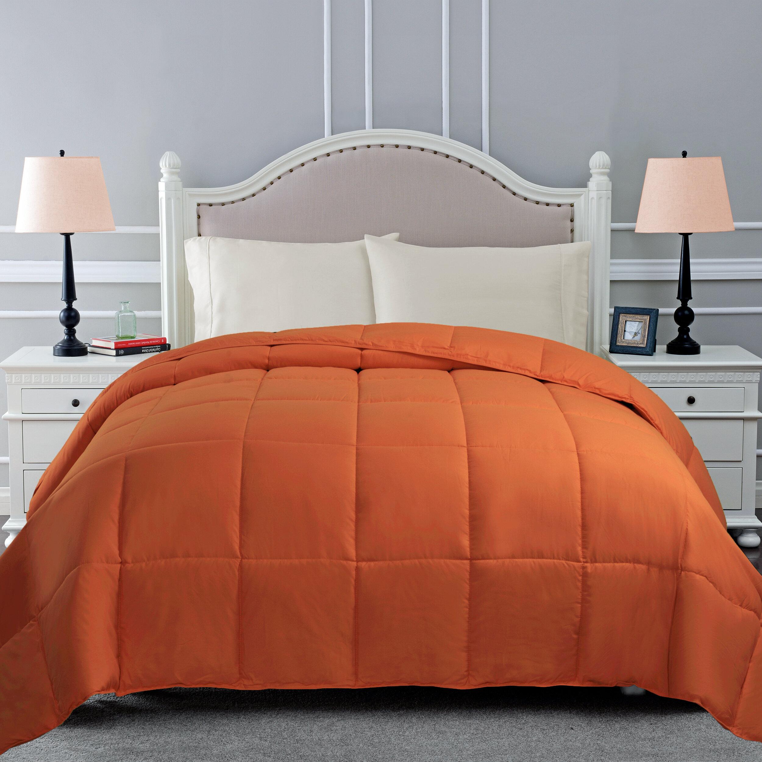 Gray Silver Orange Bedding Free Shipping Over 35 Wayfair