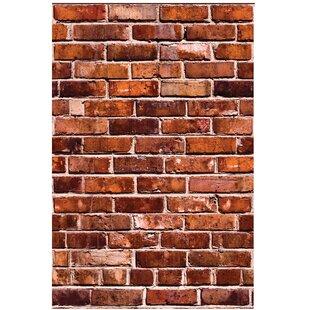 faux brick wall peel and stick wayfair