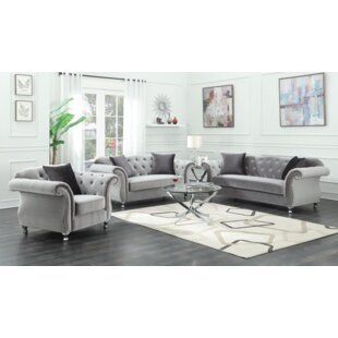 Rosdorf Park Drury 3 Piece Living Room Set