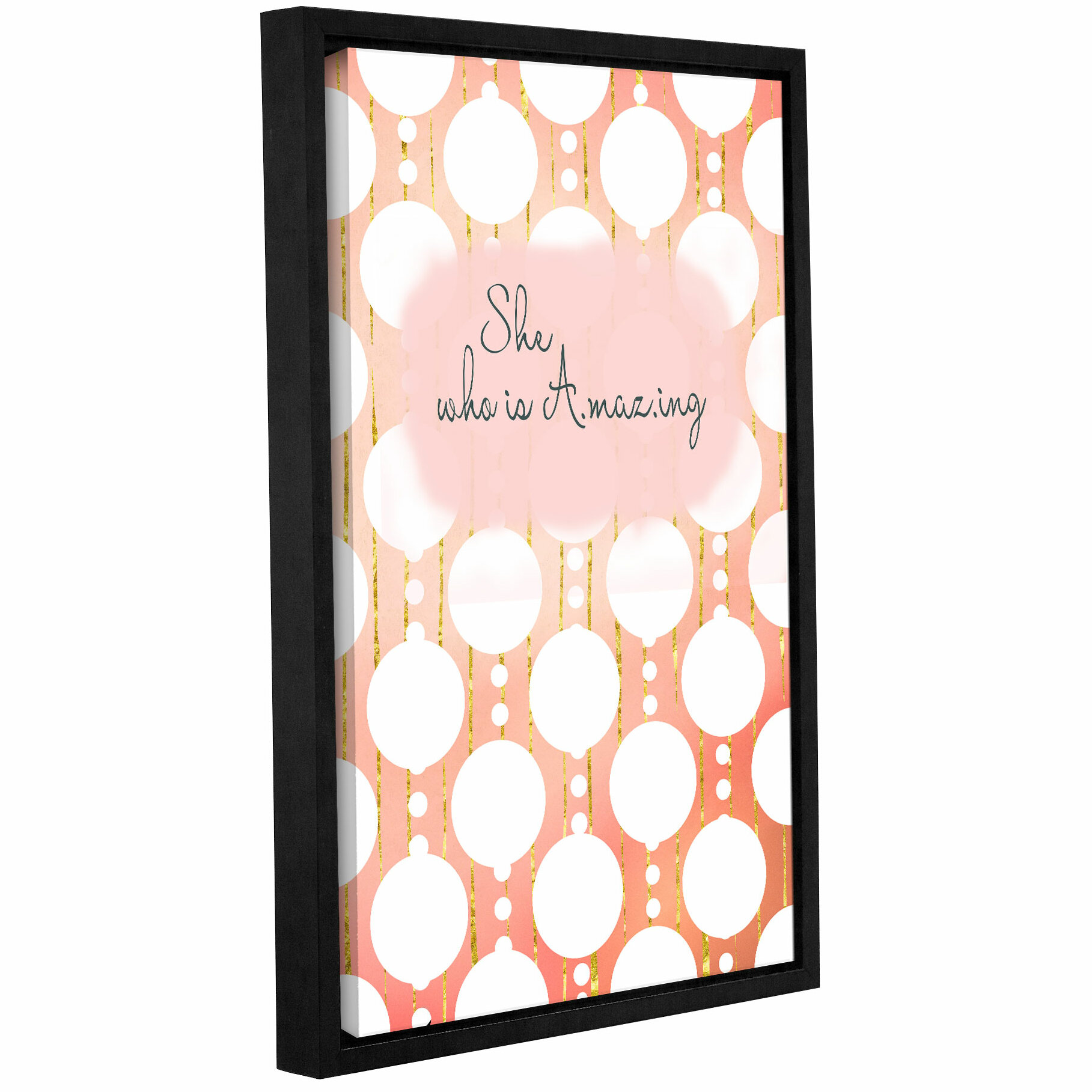 Ebern Designs She Who Is Amazing Framed Textual Art On Wrapped Canvas Wayfair