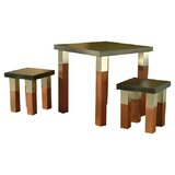 Kenji Stainless Steel Dining Table