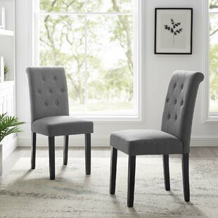 Vandever Tufted Upholstered Dining Chair Set of 2 by Red Barrel Studio
