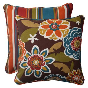 Siu Reversible Corded Outdoor Throw Pillow (Set of 2)