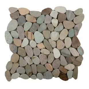 Flat Venetian Pebbles Mosaic Tile in Pastel Blend by Emser Tile