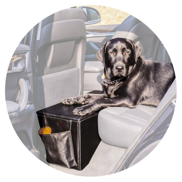 Quilted Pet Seat Extender with Storage