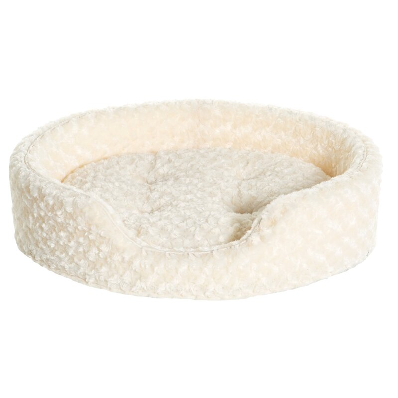 Archie & Oscar Ernie Ultra Plush Oval Pet Bed with Removable Cover