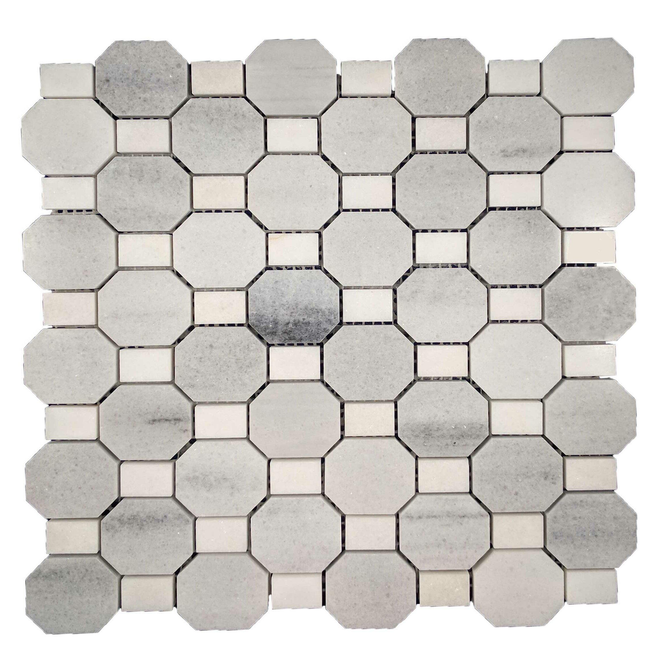 octagon bathroom floor tile