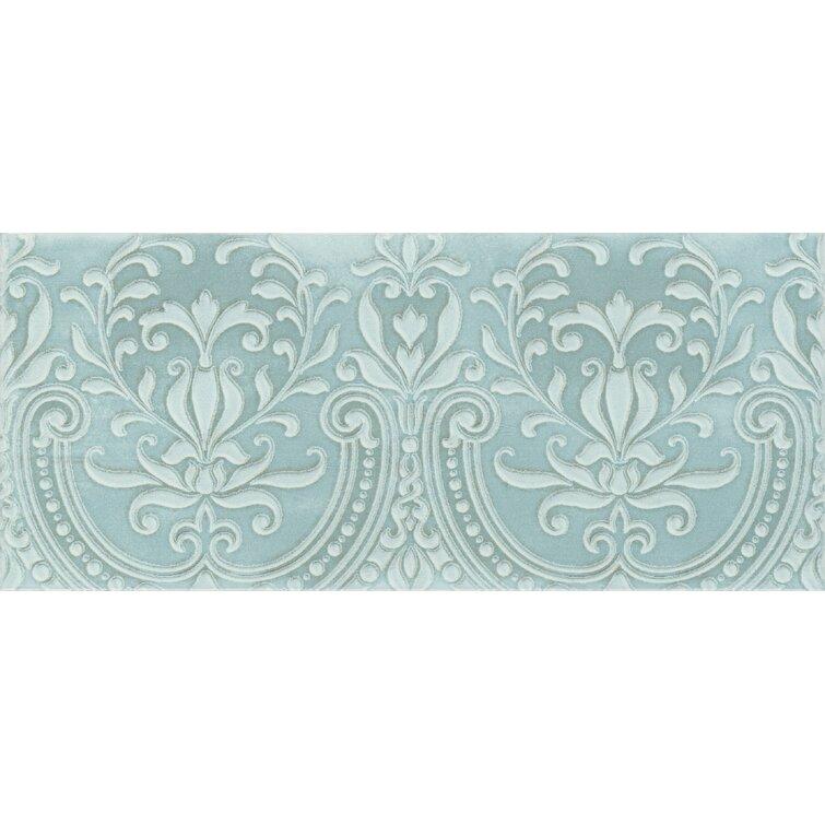 "Maiolica Chantilly 9"" x 5.75"" Ceramic Subway Tile"