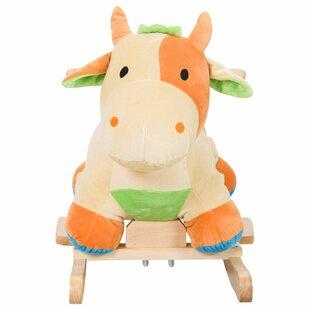 Comparison Kids Plush Toy Cow Ride Rocking Horse ByQaba