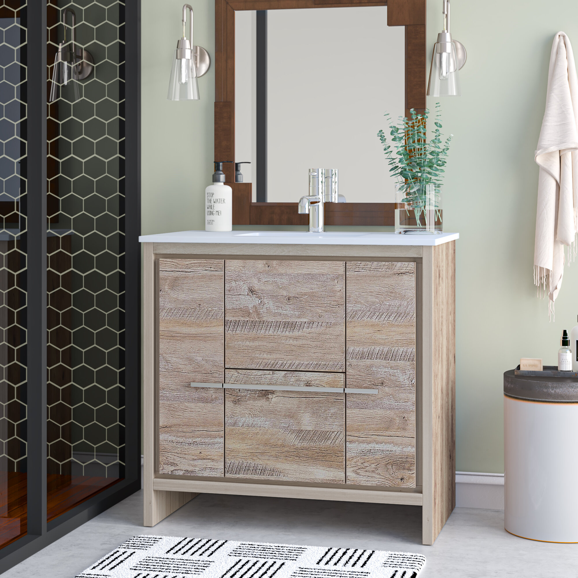 Mercury Row Bosley Modern 36 Single Bathroom Vanity Set Reviews Wayfair