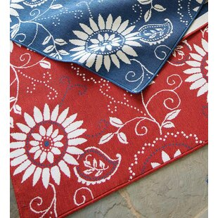 Lexington Bandana Red/White Indoor/Outdoor Area Rug