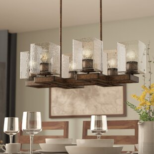 Union Rustic Malwae 6-Light Kitchen Island Pendant