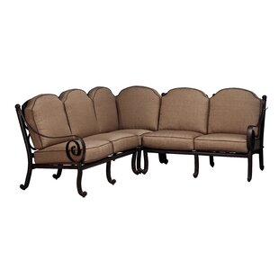 Westhampton Patio Sectional with Sunbrella Cushions (Set of 3) by Fleur De Lis Living