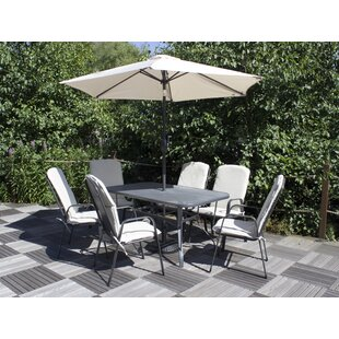 Alissa 6 Seater Dining Set With Cushions By Sol 72 Outdoor