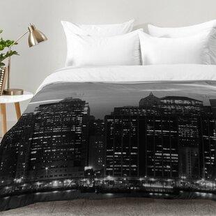 East Urban Home New York Financial District Comforter Set