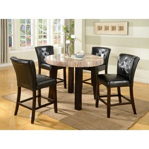 Zanic 5 Piece Counter Height Dining Set by Round..