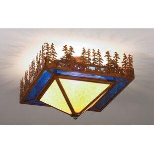 Meyda Tiffany Pine Lake 4-Light Flush Mount