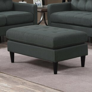 Bottoms Transitional Tufted Storage Ottoman