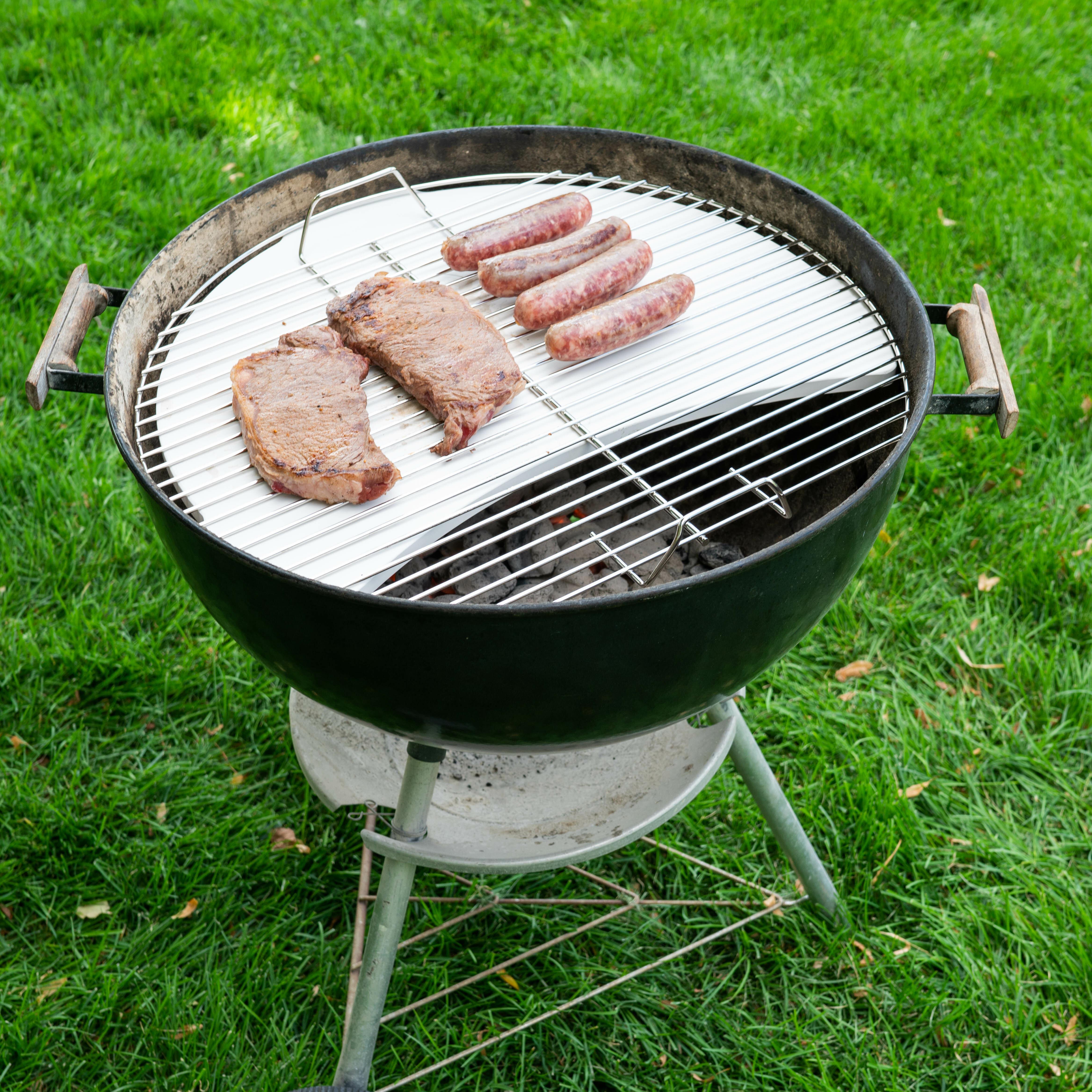 2 Extending Telescopic BBQ Spatula Stainless Steel Heat Grill Pan Burger Flipper