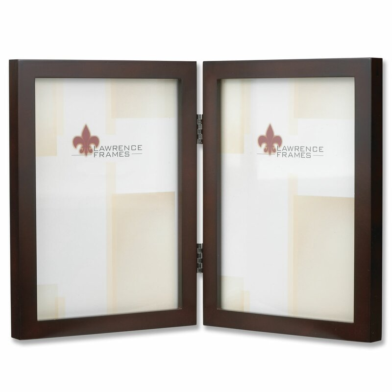 lawrence frames hinged double picture frame reviews wayfair