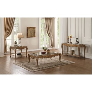 Linzy 3 Piece Coffee Table Set Rosdorf Park