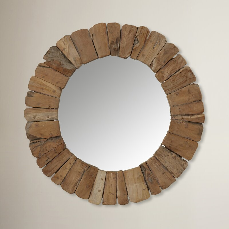 Circle Wall Mirrors jeffan sedona round wall mirror & reviews | wayfair