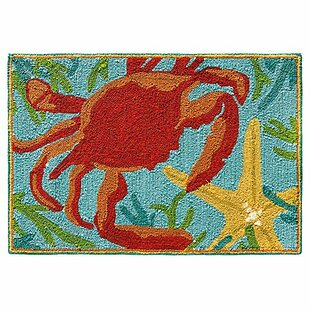 Sealegs Hand-Hooked Red/Blue Area Rug