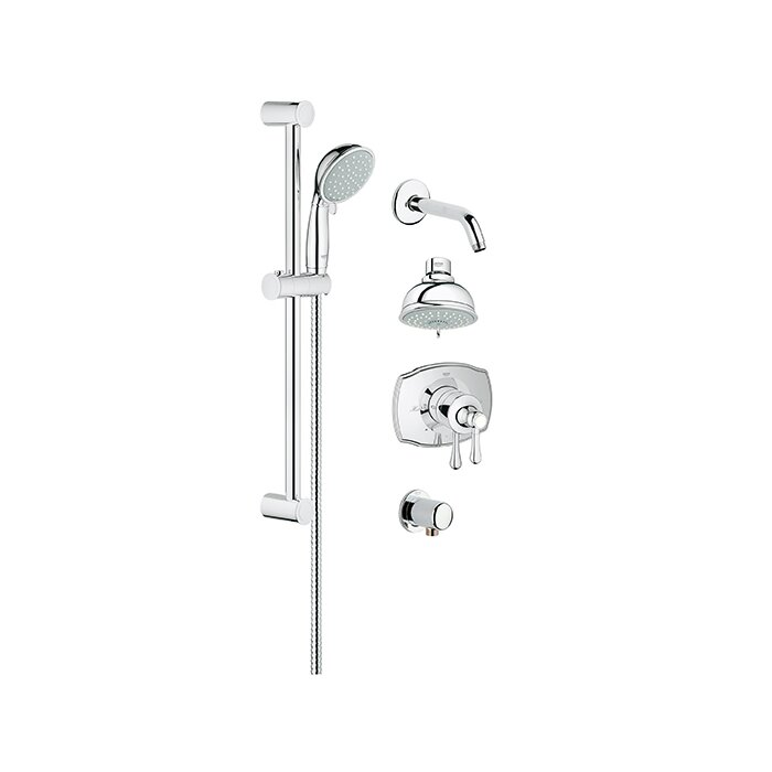 Grohflex Pressure Balance Adjule Shower Head Complete System