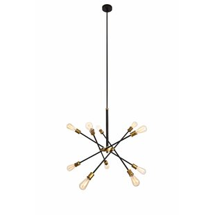 Modern and contemporary chandeliers allmodern burkley 10 light sputnik chandelier aloadofball Image collections