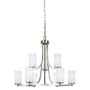 Darby Home Co Burnley 9-Light Shaded Chandelier
