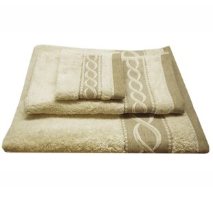 Jacquard Rope 3 Piece 100% Cotton Towel Set
