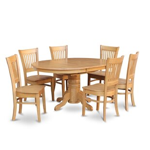 Spurling 7 Piece Extendable Solid Wood Dining Set
