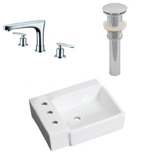 Ceramic 16.25 Bathroom Sink with Faucet ByRoyal Purple Bath Kitchen