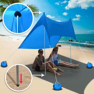 2 Person Beach Tent With Sand Anchor Portable Canopy Sunshade Shelter