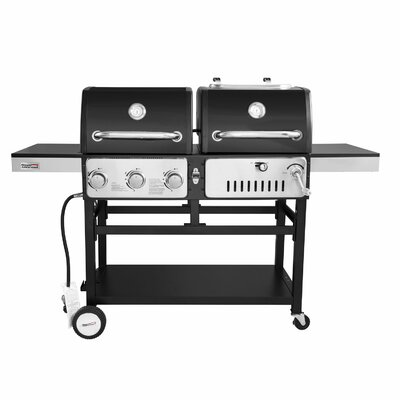 Royal Gourmet Corp Durable 3-Burner Propane Gas and Charcoal Grill