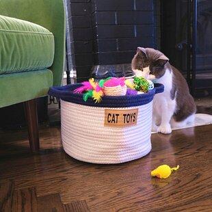 Cat Toy Fabric Basket