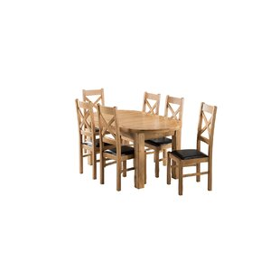 Apollonia Oval Extending Dining Set With 6 Chairs By Gracie Oaks