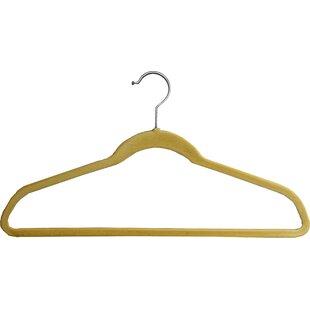 Low priced Ultra Thin Slimline Velvet Non-Slip Hanger with Fixed Bar (Set of 25) By Rebrilliant