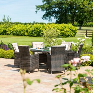 Trevethan 6 Seater Dining Set With Cushions Image