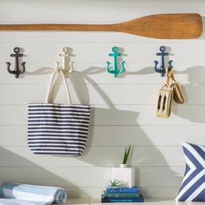 Stonehaven Anchor 4 Piece Metal Wall Hook Set