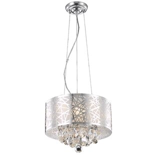 Wade Logan Athema 3-Light Drum Chandelier