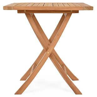 Quintara Folding Teak Bistro Table By Bay Isle Home