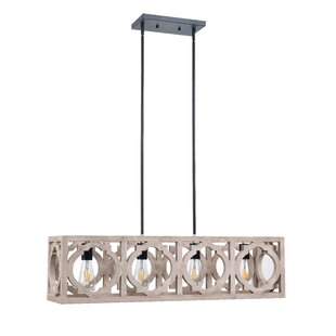 Choi 4-Light Rectangle Pendant by Gracie Oaks